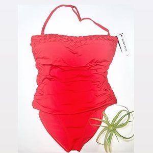 Jantzen Shaping Meets Comfort Red 1 Piece Swimsuit